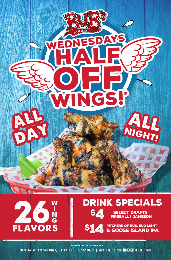 Half off wing tuesday
